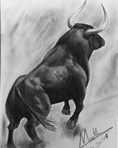 #Tauri #Torro#Art#Artist#Künstler##fight#Kunst Bull Drawing, Hirsch Tattoos, Taurus Bull Tattoos, Charging Bull, Bull Painting, Dinosaur Tattoos, Graphisches Design, Cow Art, Wildlife Art