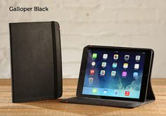 The+Luxury+Oxford+Case+for+iPad+Air++Galloper+Black+by+PadandQuill