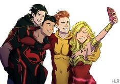 please Rebirth, give me them back! give me a Young Justice Rebirth. make Tim being Kon's Robin and Kon being Tim's cloneboy. The Core Four Rebirth Marvel Dc, Marvel Comics, Superboy Young Justice, Young Justice Funny, Superhero Images, Robin Dc, Dc Comics Superheroes, Batman Family, Tim Drake