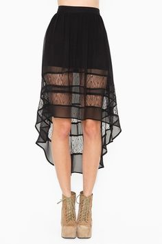 Still not totally on board with the asymmetrical hem trend, but this is pretty sexy.
