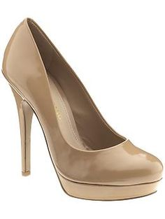 Classic patent leather nude heel.  Need.