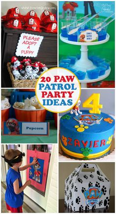 So many fun ideas for an awesome PAW Patrol birthday! More from my Awesome Paw Patrol Party Ideas for Your Kids' Birthday FunPaw Patrol Birthday Party Ideas Fourth Birthday, 4th Birthday Parties, Birthday Fun, 5th Birthday Ideas For Boys, 3 Year Old Birthday Party Boy, Princess Birthday, Cumple Paw Patrol, Puppy Party, Party Activities