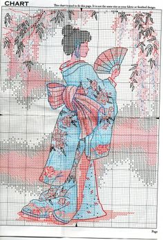 Cross-stitch, old pattern but charming