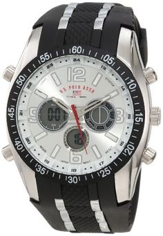 U.S. Polo Assn. Sport Men's Watch with Black Rubber Strap Watch US9061 | Amazon Promo Code