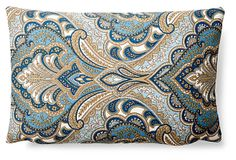 Royal 12x18 Cotton Pillow, Blue on OneKingsLane.com $100/$39