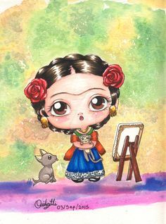 Discover thousands of images about Diego Rivera, Mexican Artists, Mexican Folk Art, Frida And Diego, Frida Art, Illustrations And Posters, Cute Illustration, Betty Boop, Magnolias