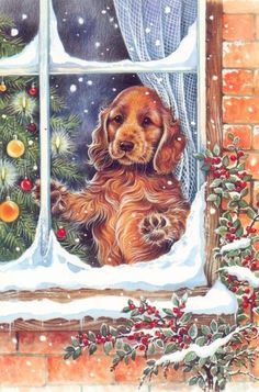 Christmas Cocker Spaniel (a cocker is for all seasons)