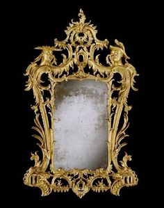 A magic mirror. For magic, not for asking stupid questions. That sort of thing can get an evil queen in trouble. OP: Ornate Looking Glass~ George II Chinoiserie Giltwood Mirror / In The Manner Of Matthias Lock 1750 Antique Picture Frames, Antique Frames, Old Frames, Chinoiserie, Mirror Plates, Mirror Mirror, Magic Mirror, English Antique Furniture, Art Decor