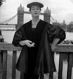 Anne Gunning wearing a theater ensemble, 1952