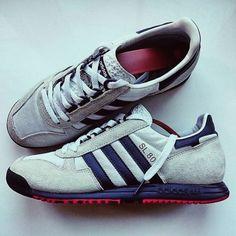 af1c4342f FEET  Adidas Original SL 80 in light grey dark blue orange. Zames · Sneakers  For Men