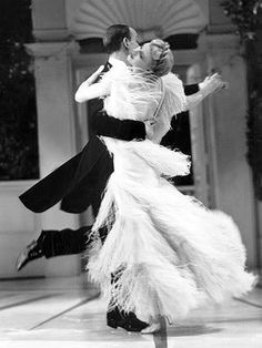 Top Hat, 1935. If I could go back in time, I'd want to dance with Fred Astaire:) Epic.