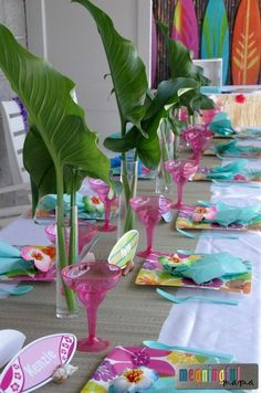 Luau Birthday Party Ideas - Hawaii Party Jun PM If you are on the search for luau birthday party ideas, you have come to the right place. For my daughter's ninth birthday, she requested a Hawaiian theme Aloha Party, Hawaii Birthday Party, Luau Theme Party, Party Set, Hawaiian Luau Party, Hawaiian Birthday, Tiki Party, Safari Party, Hawaiin Party Ideas