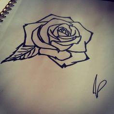Rose flower tattoo  Artist : Annabelle Petit  Instagram : annaberu11