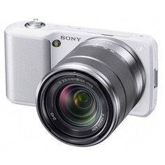 Sony Alpha NEX-C3 Digital Camera with 18-55mm Lens (White) Import Model No Warranty NEXC3KW by Sony. $361.69. The Sony Alpha NEX-C3 Digital Camera gives you the versatility of a larger SLR digital camera but in a compact, lightweight form factor. Perfect for traveling, parties, or any time you don't want to carry a bulky camera around your neck, the NEX-C3 is a styling piece with enticing lines and an understated, yet modern design. But it's not just appealing in the ...