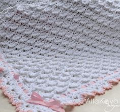 CROCHET PATTERN Fluffy Clouds Baby Blanket by mylittlecitygirl