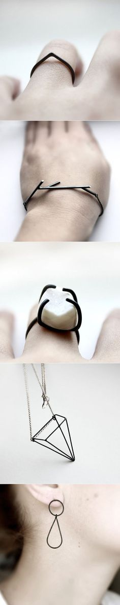 Love this jewelry!  It's so architectural yet delicate. #minimalistJewelry