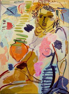 """TRANSPARENCIA  Jose Manuel Merello.- """"La mujer del alfarero""""  //  """"Potter's wife"""" (73x54cm) Mix media on canvas  Arte contemporáneo. Siglo XXI. http://www.merello.com"""