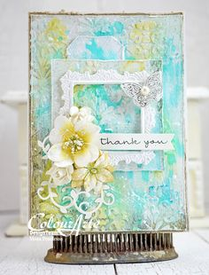 I made this card featuring a variety of beautiful ColourArte products. Thanks for looking :)
