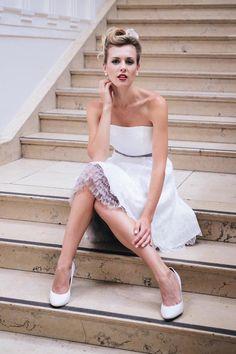 Kurze+Brautkleider+für+Standesamt+und+Hochzeitsparty+-+Modell+Katy ...