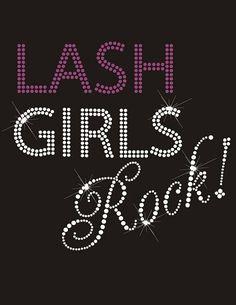 Lash Girls Rock Rhinestone Logo by CrazySportzMomBling on Etsy