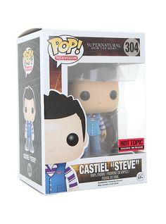 "Funko Supernatural Pop! Castiel ""Steve"" Vinyl Figure Hot Topic Exclusive Pre-Release,"
