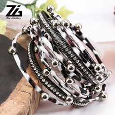 $10.92 | ZG Multilayer Leather Bracelets for Women Femme Crystal Metal Beads Charm Leopard Leather Rope Bohemian Style Bracelet Jewelry Outfit Accessories FromTouchy Style | Free International Shipping. Leather Bracelets, Fashion Bracelets, Jewelry Bracelets, Teenager Fashion Trends, Bff Gifts, Friendship Gifts, Metal Beads, Bohemian Style, Gifts For Women