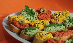 Hummus tří barev a chutí