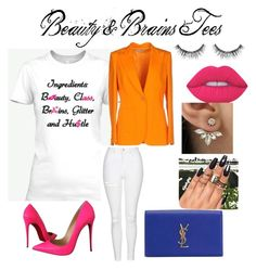 """""""PRETTY in Pink"""" by lusciouslysha on Polyvore featuring Emilio Pucci, Topshop, Christian Louboutin, Lime Crime, Yves Saint Laurent and Sephora Collection"""