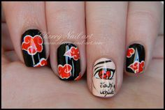 NARUTO NAILS - Căutare Google Naruto Nails, Anime Nails, Akatsuki, Itachi, Nail Inspo, Amazing Art, Nail Art Designs, Hair Beauty, Make Up
