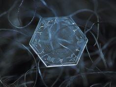 Macro of a snowflake by Aleskey Klyatov
