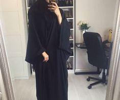 black, fashion, and abaya image Niqab Fashion, Modest Fashion Hijab, Modern Hijab Fashion, Modesty Fashion, Muslim Fashion, Fashion Outfits, Fashion Black, Muslim Girls, Muslim Women