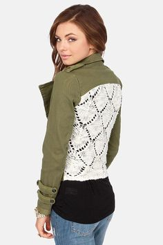 Cute lace back jacket, found on Keep