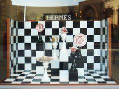 Chess - Hermès Window Display by Kliment v Klimentov, via Behance