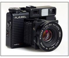 Plaubel Makina 670 - 6x7 (120/220) medium format folding pocket rangefinder camera circa. 1980s
