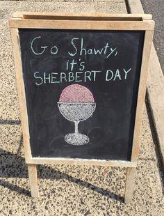 Party Like It's Sherbert Day
