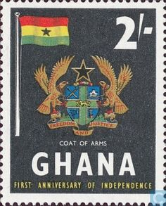 Postage Stamps - Ghana - 1 years of independence