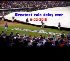 Greatest Rain Delay ever. Chicago Cubs Fans, Chicago Cubs World Series, Chicago Cubs Baseball, Baseball Mom, Hockey, Cubs Win, Go Cubs Go, Wrigley Field