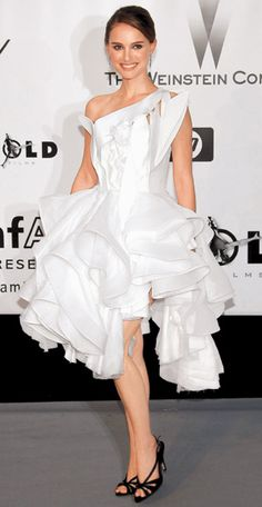 Natalie in Givenchy.. A little crazy, but she wears it nicely!