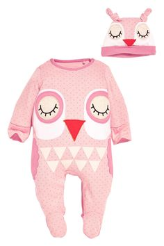 Buy Owl Sleepsuit And Hat Set (0mths-2yrs) from the Next UK online shop