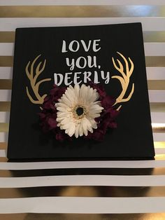 Love You Deerly wall hanging by WhiskeyAndWhineCo on Etsy
