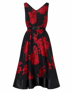 Phase Eight Aviana Floral Dress Black