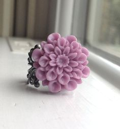 On Sale Purple Mum Ring Radiant Orchid Mum by GirlBurkeStudios, $5.00