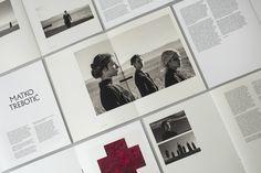 Brand identity and brochure spread designed by Bunch for Zagreb-based modern art gallery Galerija Kranjčar.