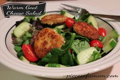 Warm goat cheese salad is one of my go-to salads when we're not in the mood for a big dinner. I always keep a log of goat cheese on hand to ...