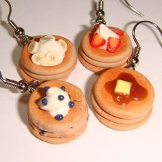 Pancake Earrings. My obsession may have gone too far.. but I might need these
