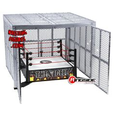 RINGSIDE COLLECTIBLES WWE Toys, Wrestling Action Figures, Jakks Pacific, Classic Superstars Action F: WWE THE CELL RING PLAYSETWWE Toy Wrestling Ring Playset