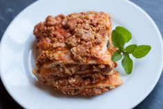 Gluten-Free Lasagna « The Domestic Man  Wonderful! Replaced the tomato sauce for spaghetti sauce because I had it on hand and the ricotta with cottage cheese because my husband prefers it. It was the best lasagna ever.