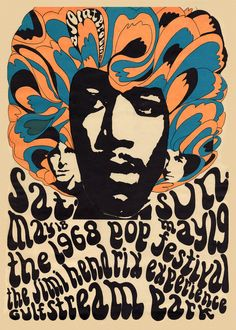 """psychedelic-sixties: """" Concert Poster The Miami Pop Festival, 1968 """""""