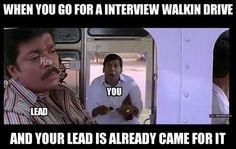 Interview walkin drive