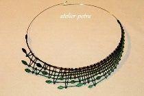 Paličkovaný náhrdelník Lace Jewelry, Textile Jewelry, Needle Lace, Bobbin Lace, Crochet Needles, Lacemaking, Lace Heart, Lace Detail, Turquoise Necklace